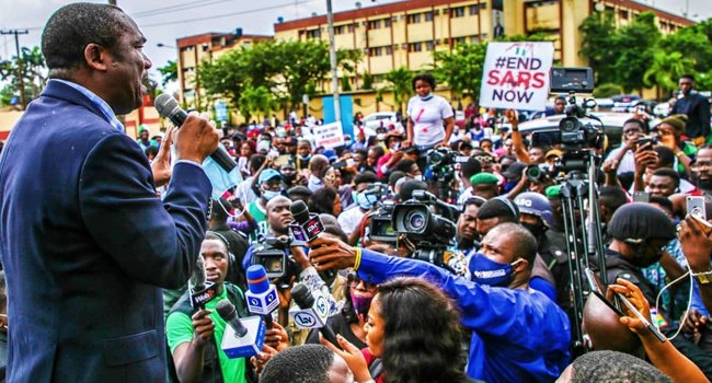 #EndSARS: Do Not Hurt Our Children Because Of Their Looks – Lagos Deputy Governor