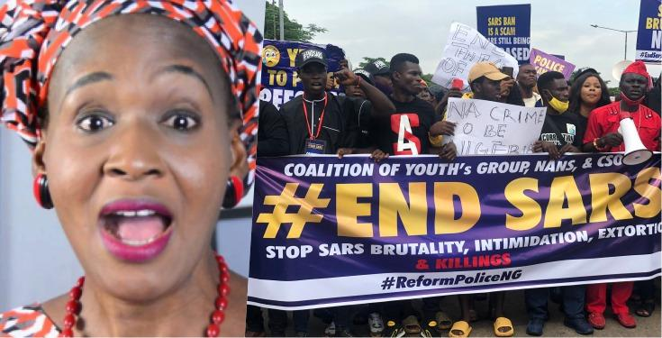 "#EndSARS: ""Don't blame the Government but your Parents"" - Kemi Olunloyo"