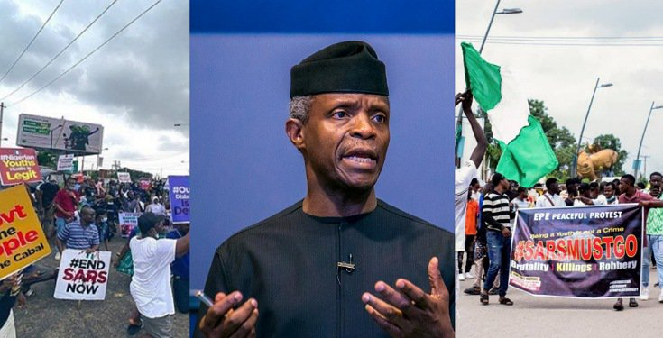 "#EndSARS: ""FG is Sensitive and Thoughtful about Young Nigerians"" - VP Osinbajo"