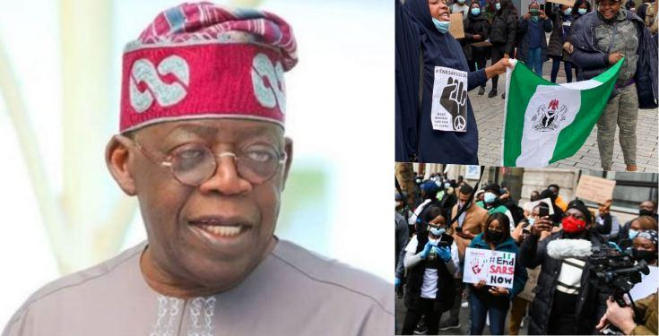 #EndSARS Protesters Storms Tinubu's Residence in London (Watch Video)