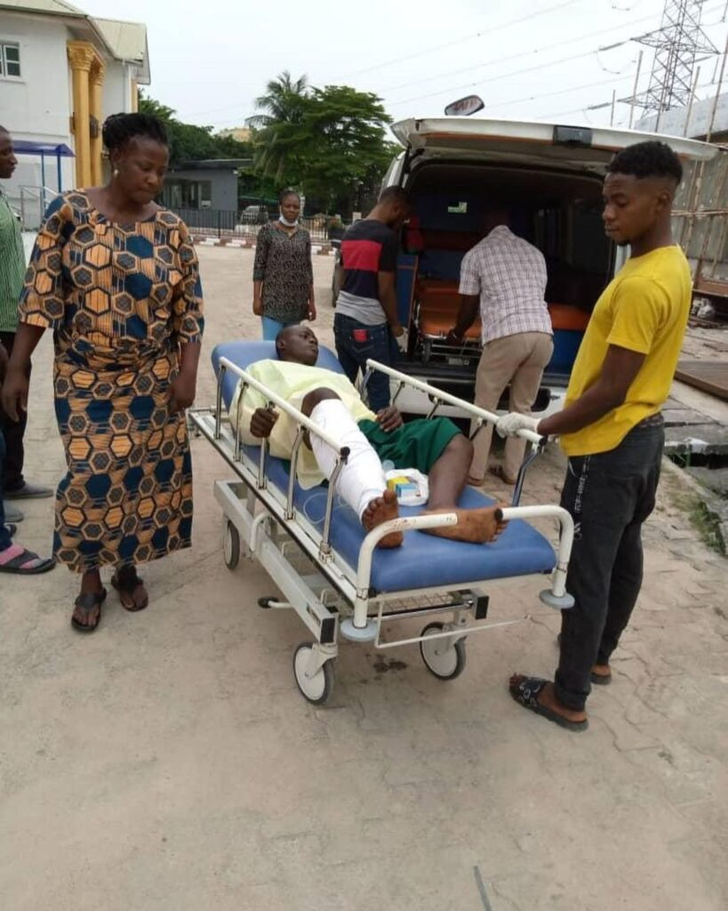 ENDSARS VICTIM'S LEG AMPUTATED, FOLLOWING SEVERAL GUN SHOT INJURY (PICTURES)