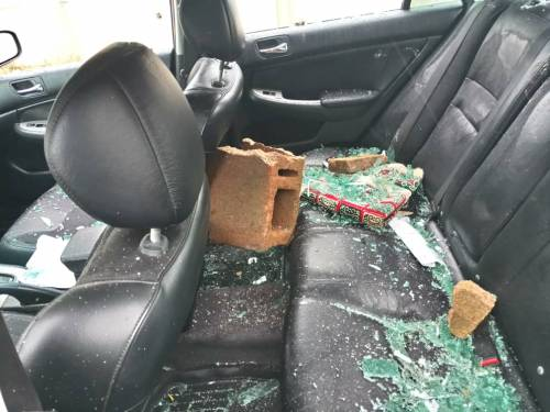 #ENDSWAT: Man Shed Tears As Hoodlum Destroy His Car In Abuja, See Video