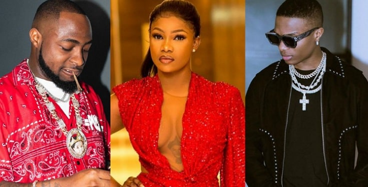 Fan Slams Tacha for Hailing Wizkid with Davido's Tattoo on her Chest