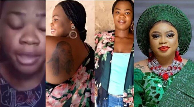 Father of Lady Who Tattooed Bobrisky On Her Body Reportedly Disowns Her, See Reactions