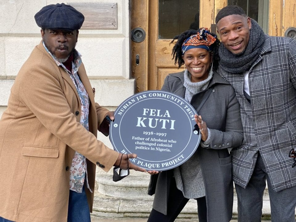Fela Kuti Gets Memorial Plaque in London