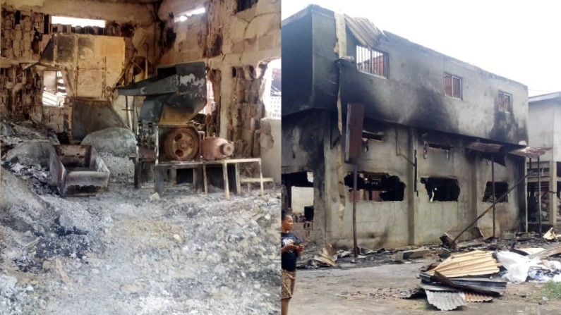 Fire guts multi-million Naira motorcycle spare parts factory in Nnewi