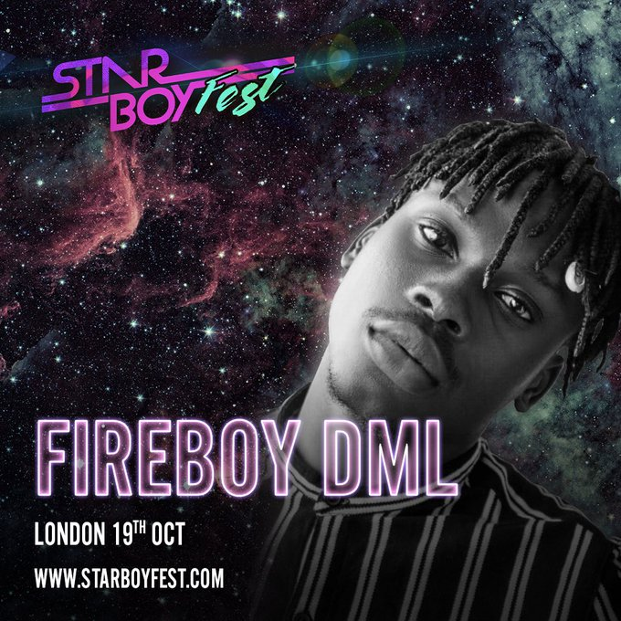 Fireboy DML Bags First International Show, To Perform At Wizkid's Starboy Fest