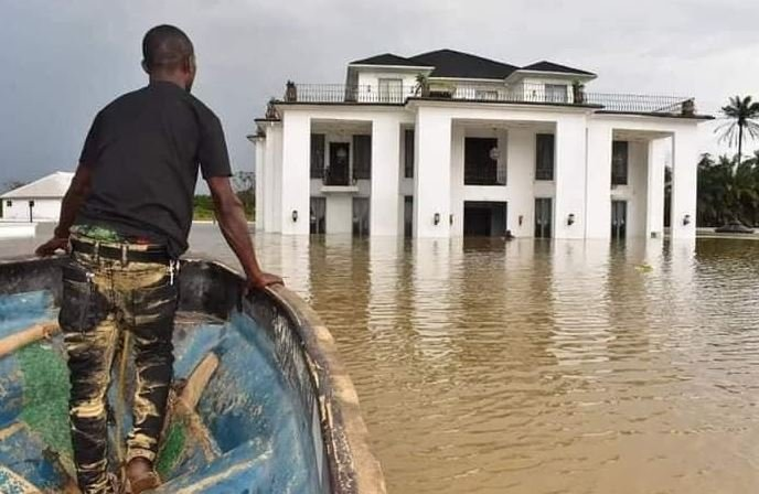 Former Delta State Deputy Speaker's Mansion Flooded (Photos)