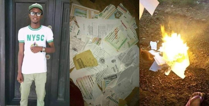 Frustrated Graduate Burns all his Certificates Due to Inability to Secure a Job