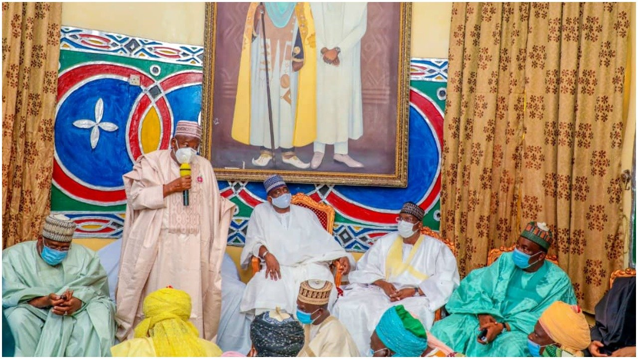Governor Ganduje visits Kwankwaso over Fathers Death