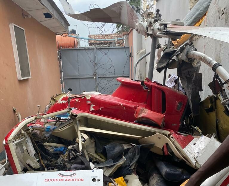 Helicopter In Lagos Crash Had Empty Fuel Tank, Report Finds