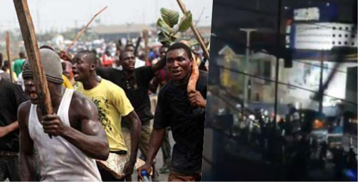 Hoodlums Take Over Surulere After Looting AO Mall (Watch Video)