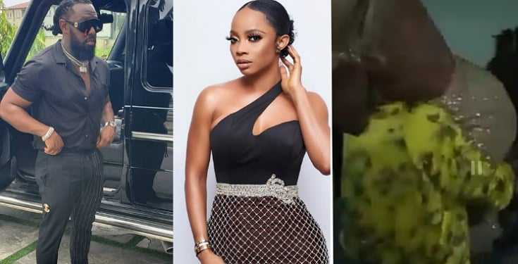 """I am not Wearing Pant"" - Toke Makinwa screams as Timaya carries her up (Watch Video)"