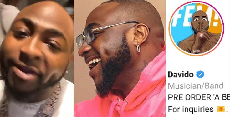 """I Literally Begged a Guy for 10 Years to free this Name for Me"" - Davido celebrates getting his correct username on IG"