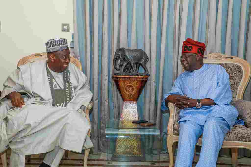Kano: Tinubu commends Ganduje's Anti-Corruption Drive