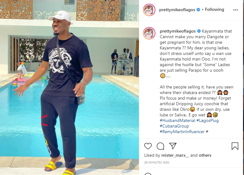 Kayanmata That Cannot Make You Marry Dangote Or Get Pregnant For Him, Is That One Kayanmata? – Socialite PrettyMike