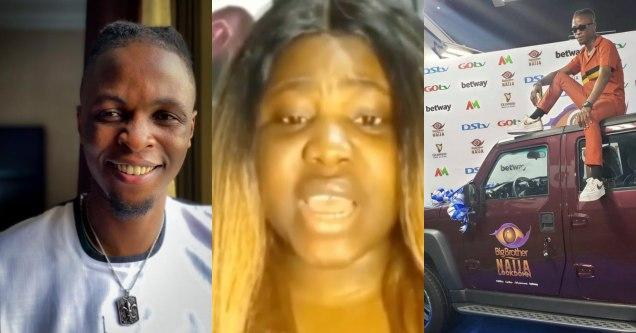 Lady claims she's Laycon's Baby Mama (See Video)