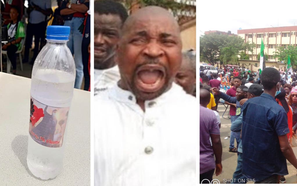 Lagos #EndSARS Protesters Reject Water, Soft Drinks Donated By Mc Oluomo