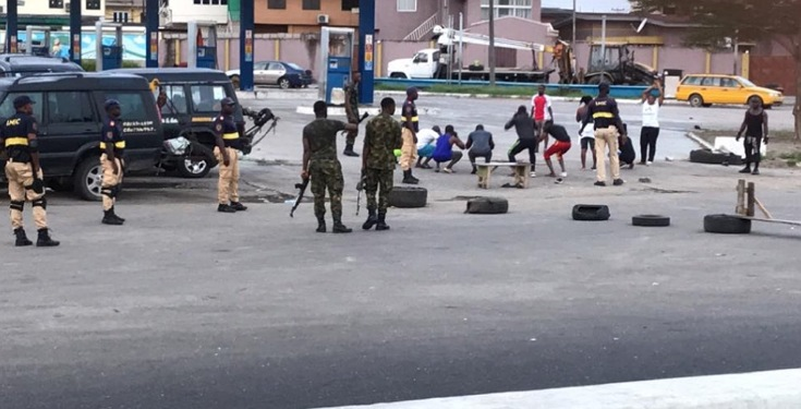Lagos State Residents Punished by Soldiers for Not Obeying Lockdown Order