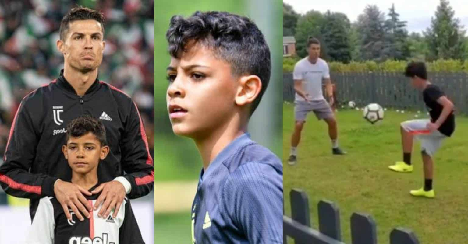 """Like Father like Son"" - C.Ronaldo shares Adorable Video Training with His Son"
