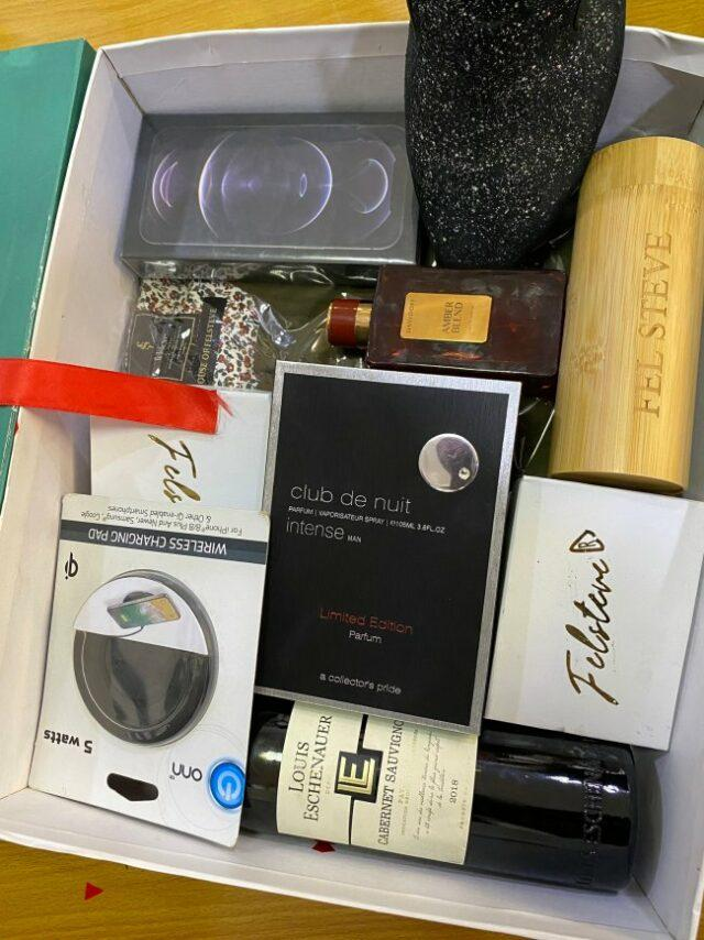 Man shows off gift box from babe containing iPhone 12, other items worth 865k ahead of Valentines day