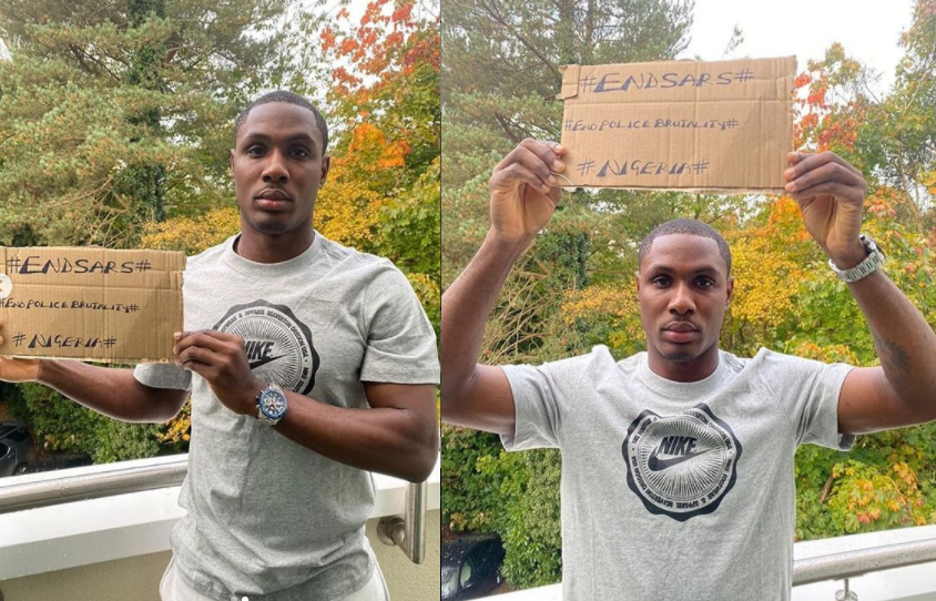 Manchester United Striker, Odion Ighalo Joins The #EndSARS Campaign