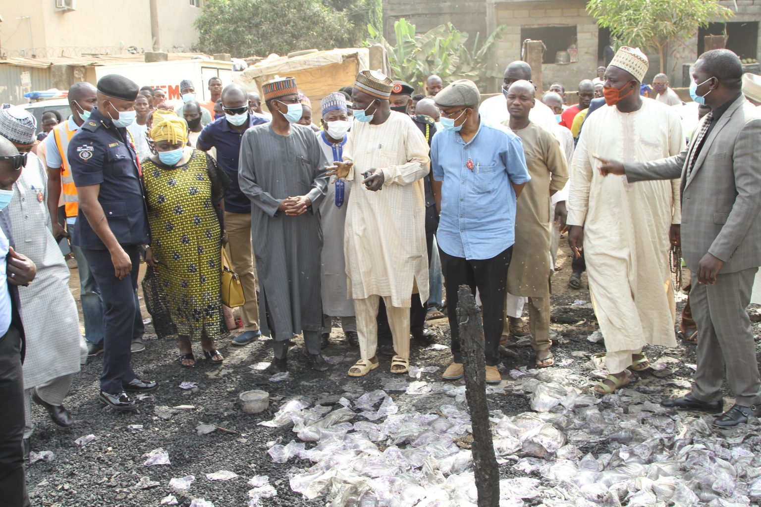 Market fires: FCT Minister, Bello visits, commiserates with traders
