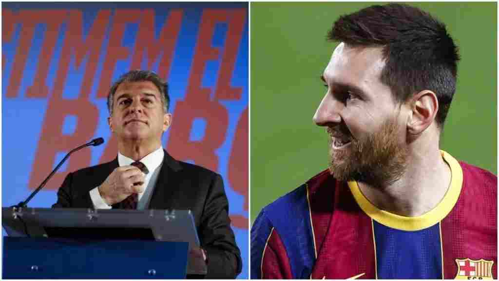 Messi will leave Barcelona if I'm not elected president - Laporta