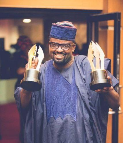 Movie producer, Kunle Afolayan showcases his collection of prestigious awards