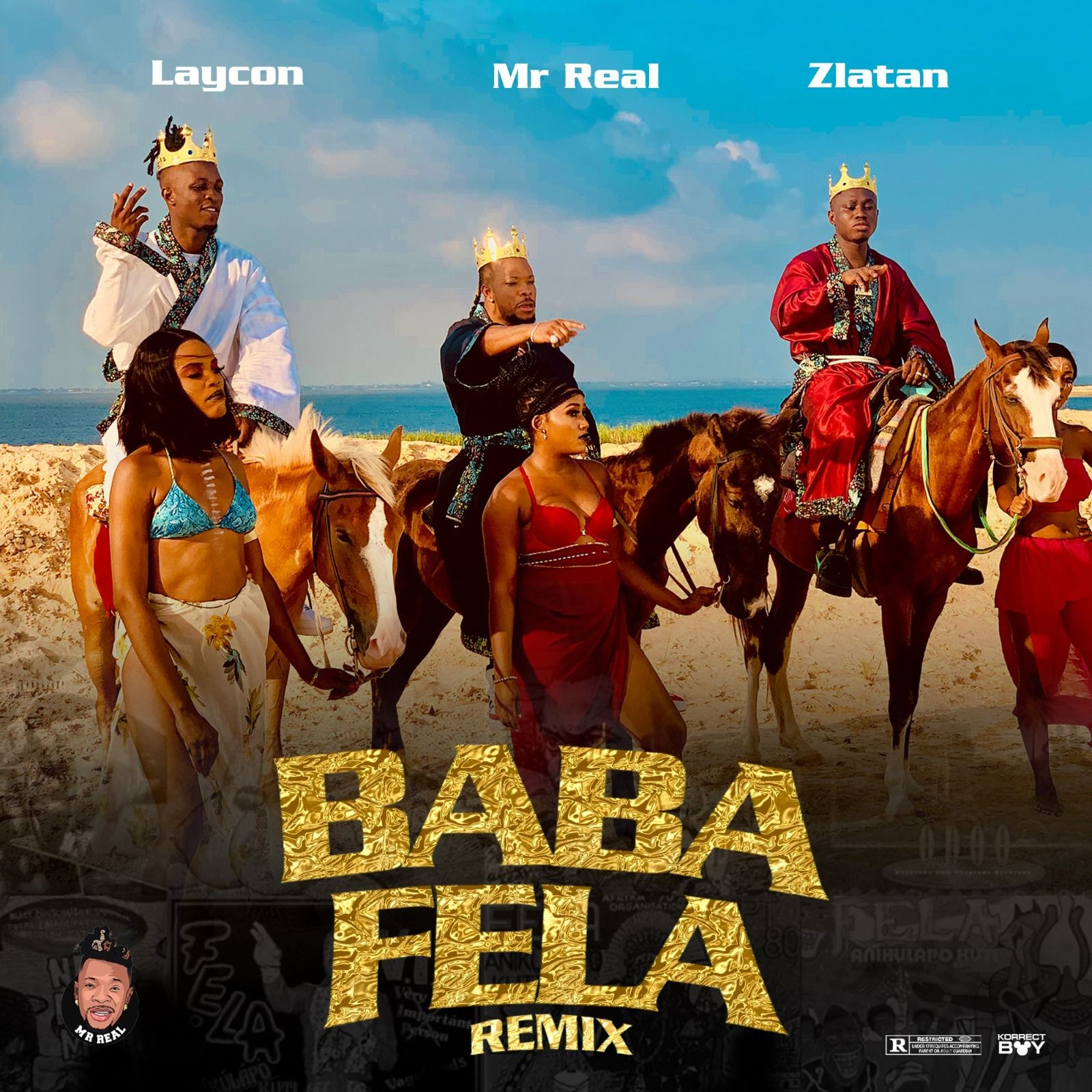 Mr Real - Baba Fela (Remix) Ft. Zlatan & Laycon