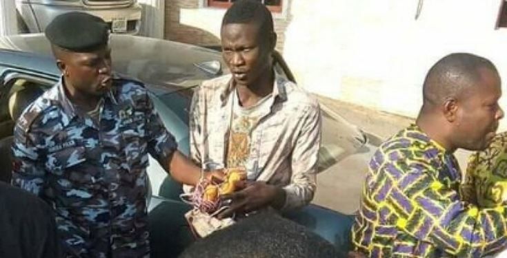 """My Name is Nathaniel Samuel"" - Man Caught with Bomb in Kaduna Church insists (Video)"