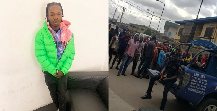 Naira Marley Fans Defy Lockdown, Storm Court to Show Support to Him (See Photos)