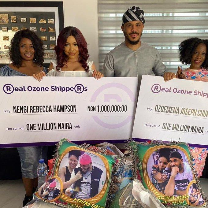 Nengi and Ozo fans gift them N2Million and other Gifts