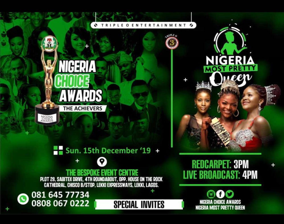 Nigeria Most Pretty Queen and Nigeria Choice Award Set to Hold on 15th December