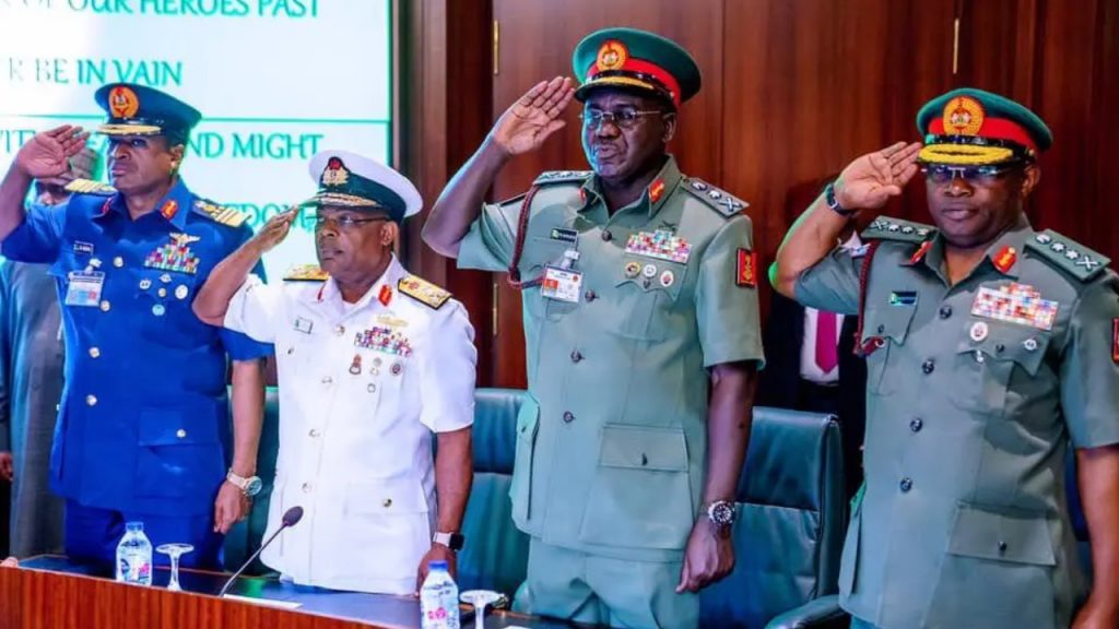 Nigerian officers jubilate as Buhari removes Service Chiefs after 66 months [Video]