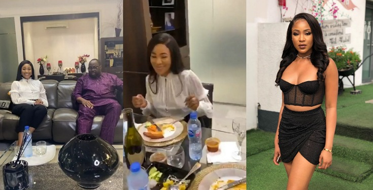 Nigerians drag Erica for not wearing a Bra During her visit in Dele Momodu's House (Video)