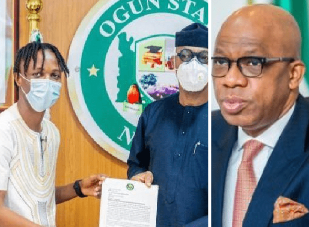Nigerians 'Drag' Ogun State Governor, Dapo Abiodun After Gifting N5Million To Laycon