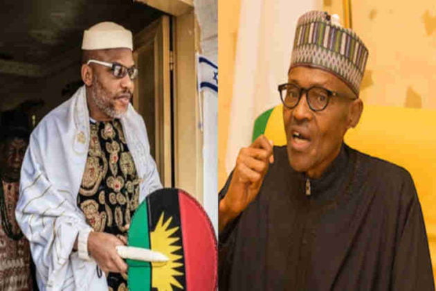 Nnamdi Kanu Mocks Buhari, Says He Cannot Travel To 'Core North' For This Reason