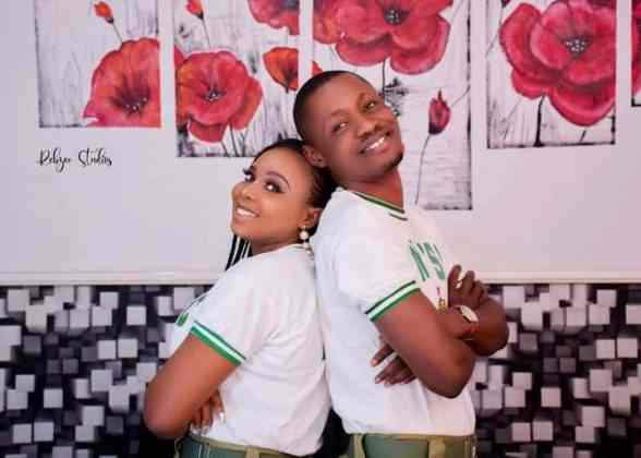 """NYSC gave me a wife"" - Man engages his fellow corps member on their POP day (Photos/Video)"