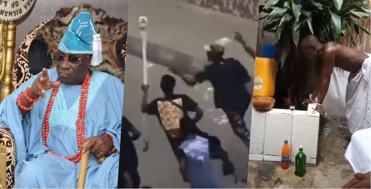 Oba of Lagos Charges the 'gods' on Looters of the King's Staff (Watch Video)
