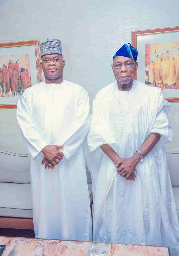 Obasanjo meets Kogi State Governor, Yahaya Bello