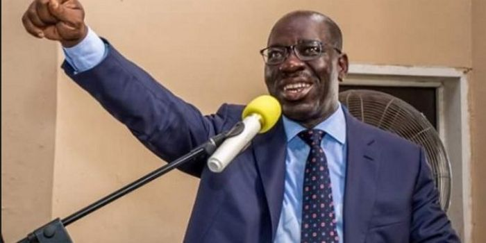 Obaseki Receives Election Results Sheet From INEC (Photo)