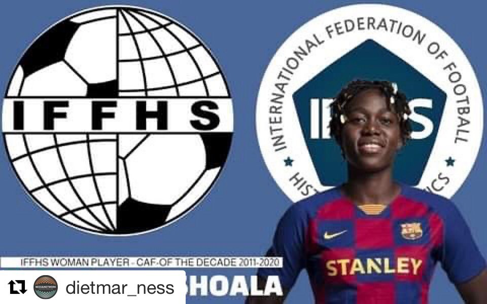Oshoala Voted Best African Woman Player Of The Decade
