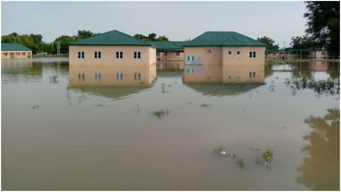 Panic In Jigawa State As Flood Kills Five, Takes Over LG Secretariat, Displaces Corps Members