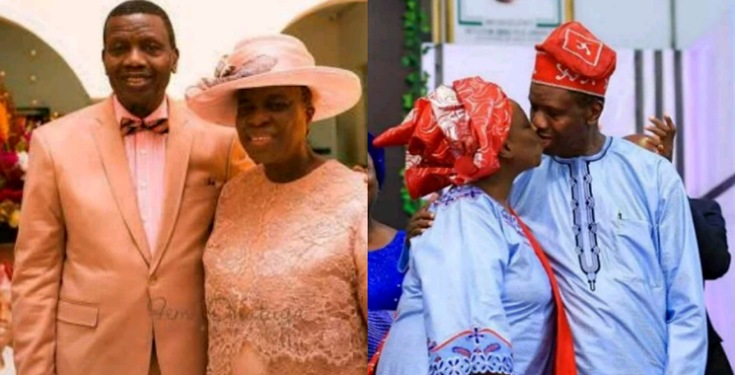 Pastor Adeboye Shares Old Pics of Himself and his Wife kissing, to Celebrate Valentine's day