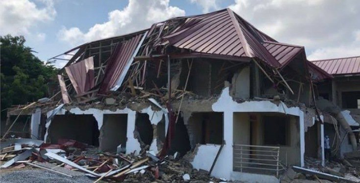 People engaged with Destruction of Nigerian Embassy Staff Quarters in Ghana captured