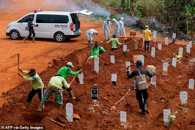 People Who Refused To Wear Face Masks Made To Dig Graves As Punishment (Photo)