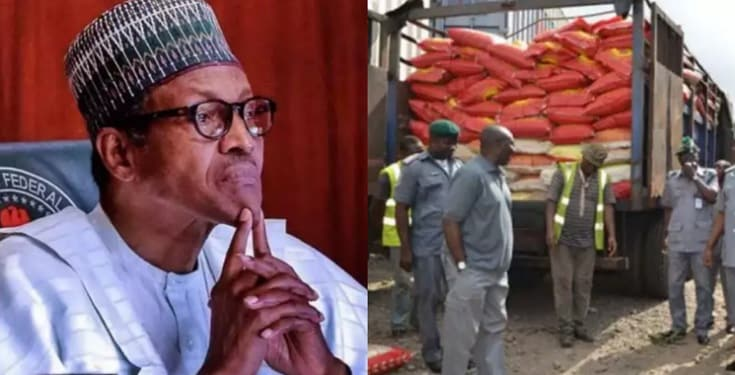 JUST IN: President Buhari Orders Customs to Release Seized Bags of Rice for Distribution