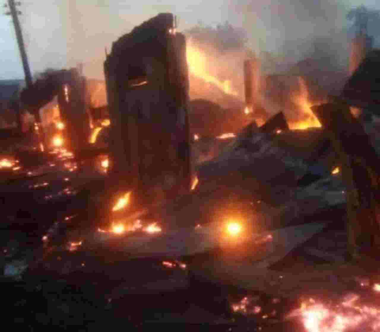 Property worth Millions of Naira Destroyed as fire Razes Spare parts Market in Ibadan
