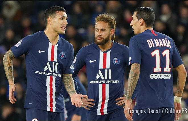 PSG stars, Neymar, Di Maria and Paredes, test positive for Coronavirus